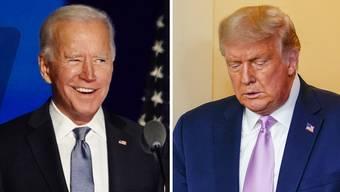 Donald Trump (rechts) bleibt der Vereidigung seines Nachfolgers fern. Das stört diesen nicht im geringsten.