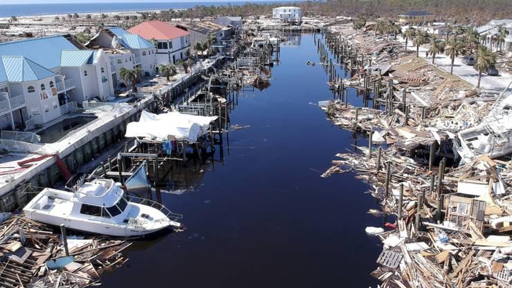 """In den USA werden immer mehr Todesopfer durch den Hurrikan """"Michael"""" geborgen."""
