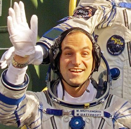 Mark Shuttlewort nach seinem Weltraum-Tripp. (2002)