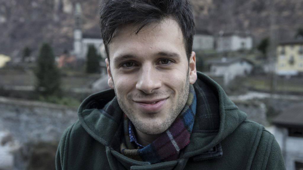 Der Tessiner Anwalt und Musiker Sebastiano Pau-Lessi alias Sebalter verliest am 14. Mai die Schweizer Jury-Wertung im Eurovision Song Contest. (Archivbild)