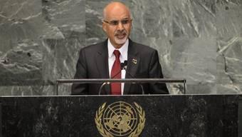 Der nun zurückgetretene Mohammed Al-Magarief vor der UNO