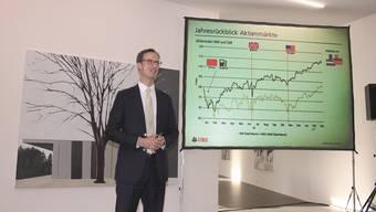 Vor den Bildern des Berner Künstlers Kotscha Reist sprach Aktienstratege Michael Klien über die Finanzmärkte.
