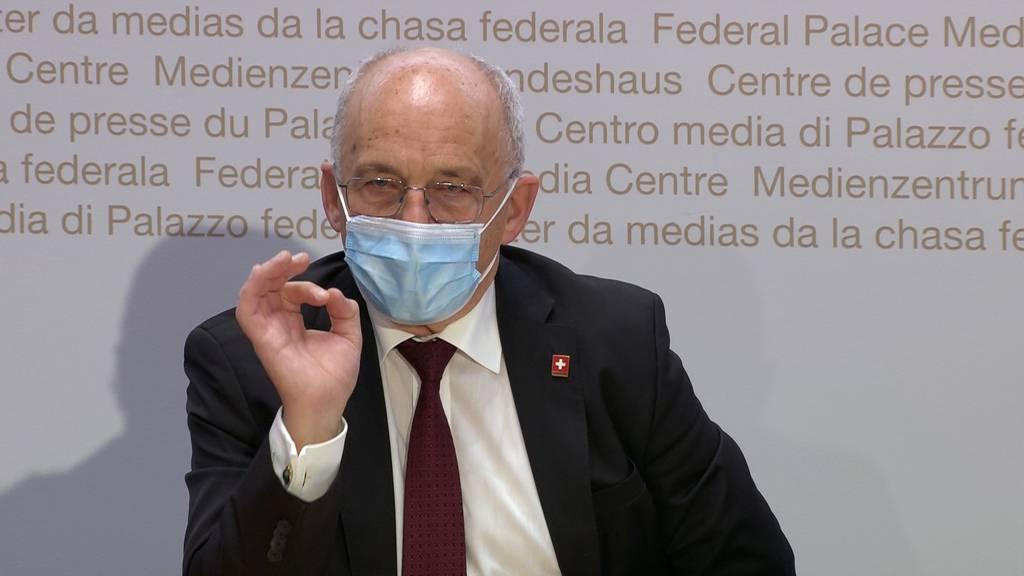 Ueli Maurer: «Wir werden im 2020 rund 15 Milliarden Franken für die Covid-Pandemie ausgegeben haben»