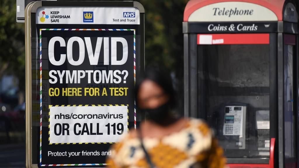 Grossbritannien: Erstmals mehr als 7000 neue Corona-Fälle an einem Tag