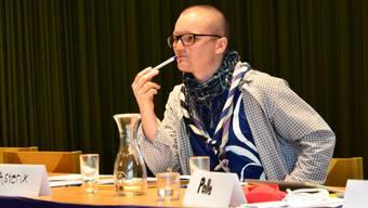 Samuel Steiner an der Delegiertenversammlung der Pfadi Aargau 2017.