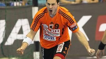 Andrija Pendic steuerte fünf Tore zum Sieg der Kadetten bei