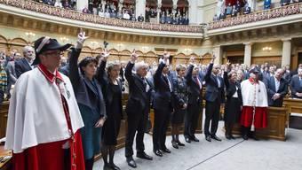 Der Bundesrat bei der Vereidigung 2011.