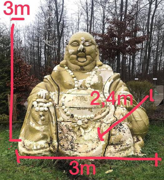 Die Statue ist über drei Meter hoch und breit. (Bild: Stapo Winterthur)