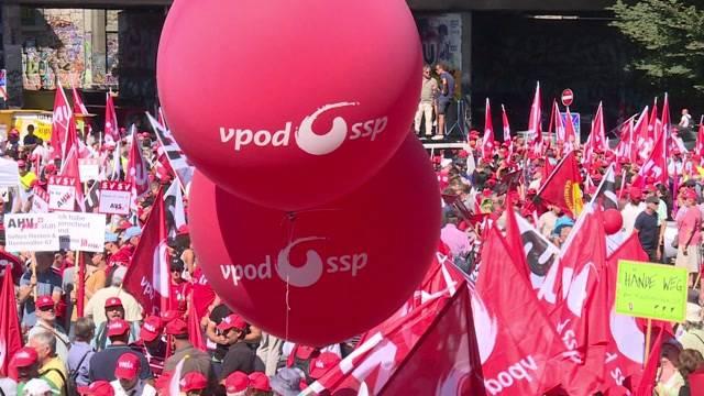 20'000 demonstrieren gegen Rentenabbau