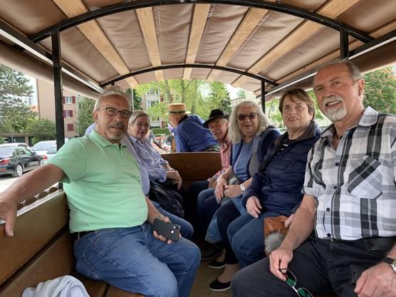 Photoschutting mit den 70 jährigen und alle wollten dabei sein