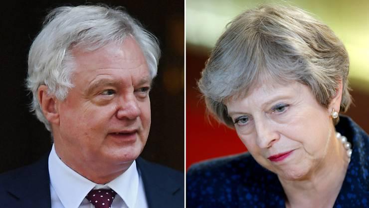 Die britische Premierministerin Theresa May muss einen Dämpfer hinnehmen: Ihr Brexit-Minister David Davis tritt zurück.