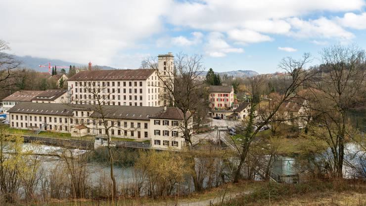 Im Hintergrund die Spinnerei auf der Wettinger Klosterhalbinsel. (Archiv)