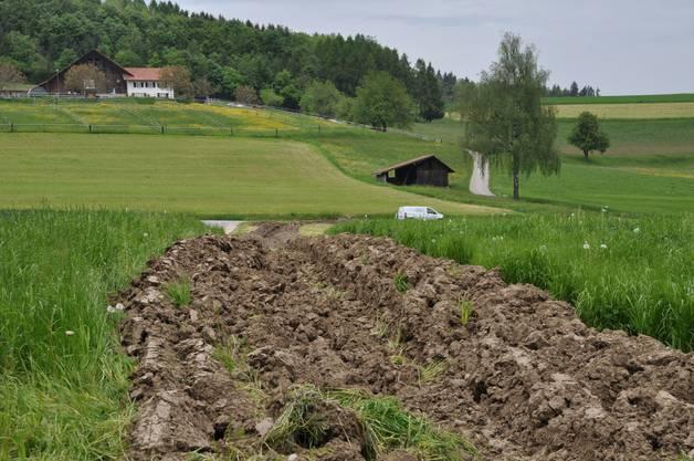 Sandra Lischer pflügte Furchen in ihr Feld, um die Fahrenden zu vertreiben.