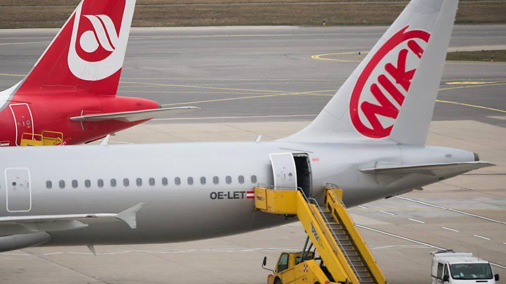 Die Flugzeuge der österreichischen Airline Niki stehen seit Mittwoch am Boden. (Archivbild)