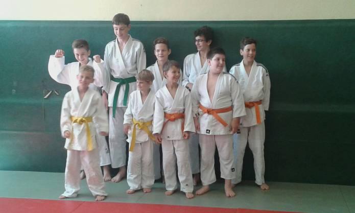 Gruppenbild der Judokas