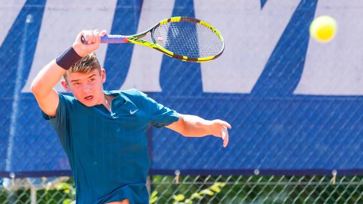 Jérôme Kym ist der jüngste Davis-Cup-Spieler der Schweiz.