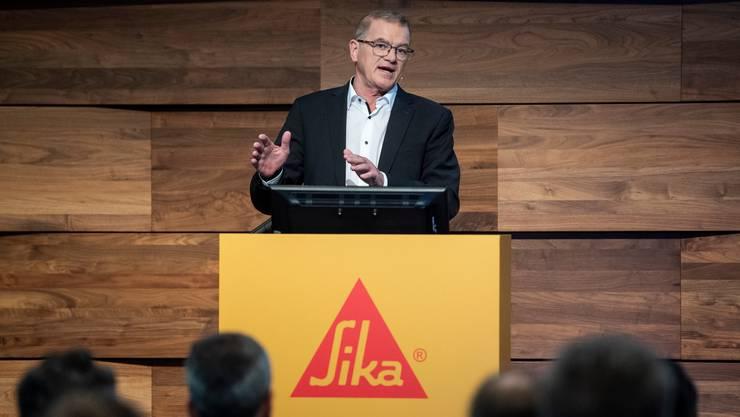 Will weiteres Wachstum: Paul Schuler, CEO von Sika.