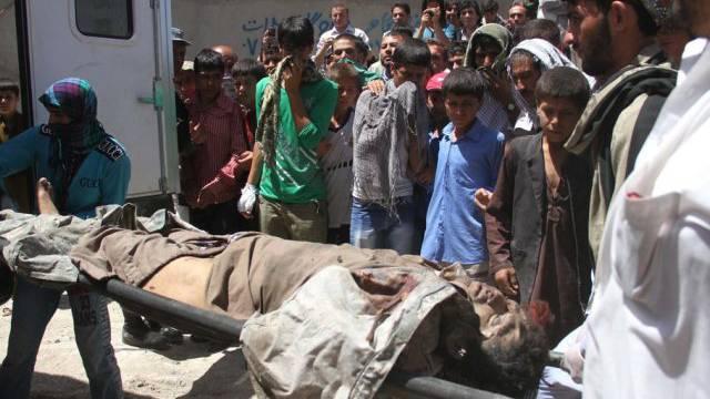 Getöteter Taliban-Kämpfer nach Angriff auf Kabuler Flughafen