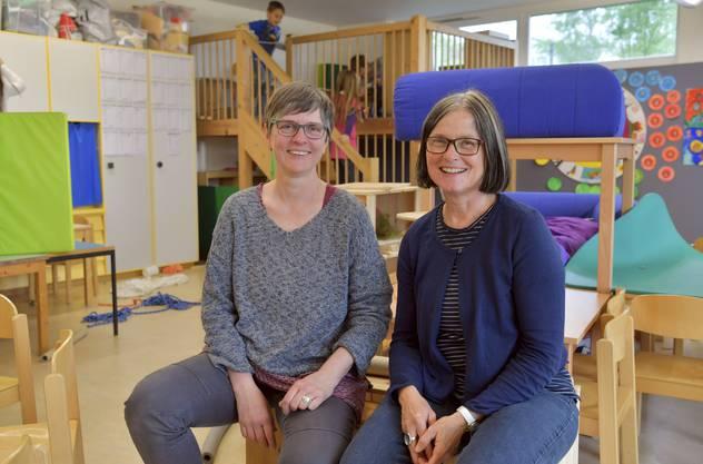 Die beiden Lehrpersonen Iris Trummer (l) und Judith Loretz (r)