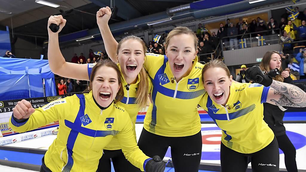 Schwedens Curlerinnen erneut Europameisterinnen