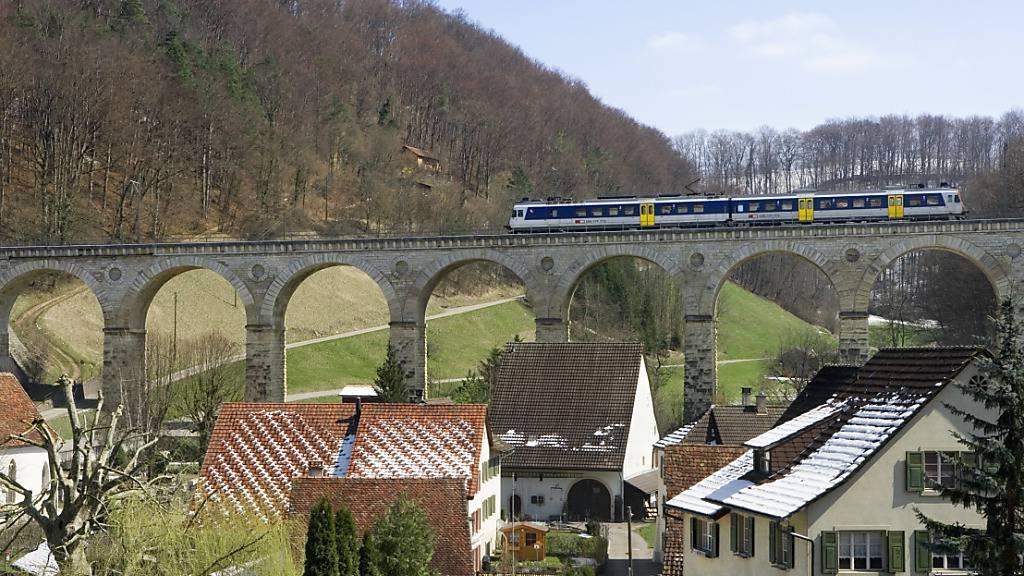 Das Viadukt bei Rümlingen auf der Bahnstrecke zwischen Olten SO und Sissach BL. (Archivbild)