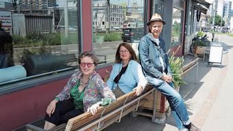 Irene Simmen (v.l.), Martina Haller und Andreas Hofer.