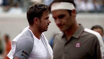 Stan Wawrinka und Roger Federer spielten Anfang Juni in Paris letztmals gegeneinander