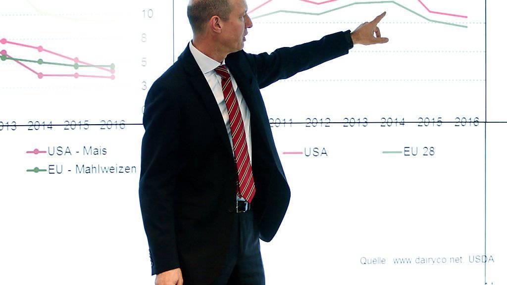 Der Chef von Bucher Industries, Jacques Sanche, kann deutlich mehr Aufträge und Umsatz verkünden. (Archiv)