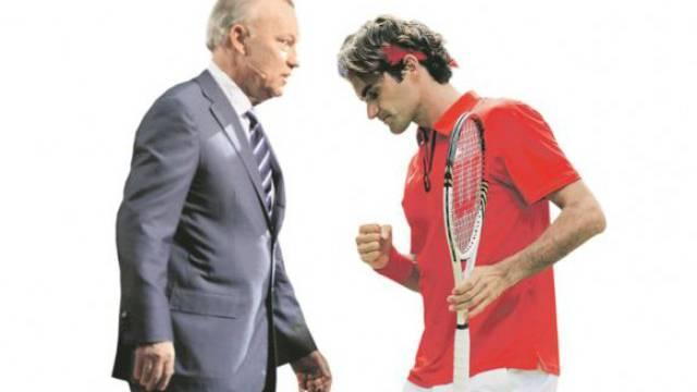 Roger Brennwald (l.) und Roger Federer (r.) haben ihren Konflikt noch immer nicht bereinigt. Foto: Keystone