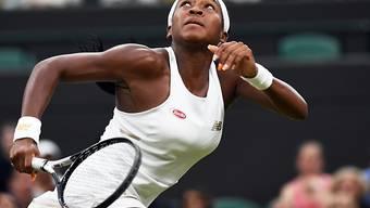 Hat allen Grund, den Blick nach oben zu richten: Die 15-jährige Cori Gauff gewinnt in Linz als jüngste Spielerin seit 15 Jahren ein WTA-Turnier