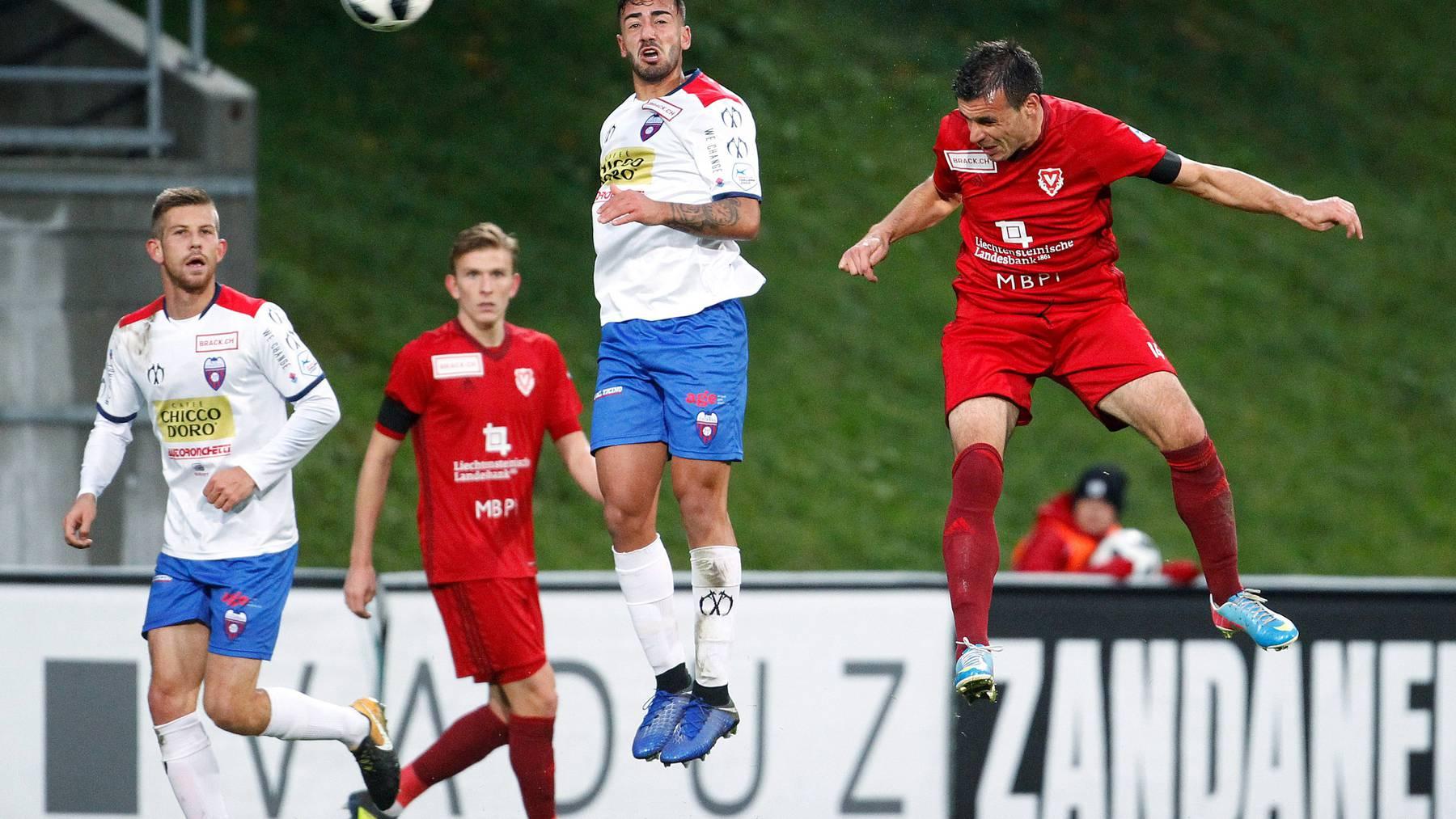 Die Spieler des FC Vaduzs haben am Samstag alles geben. Der Sieg wurde jedoch von zwei Vorfällen überschattet.