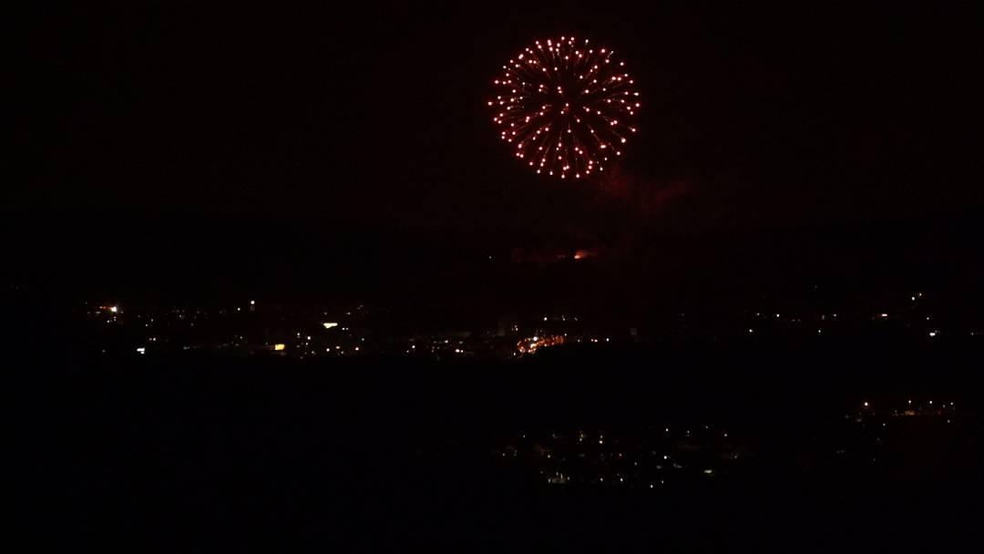 Das Feuerwerk in Lenzburg