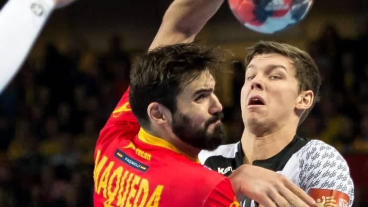 Spaniens Jorge Maqueda (links) im Duell gegen den Deutschen Christian Dissinger