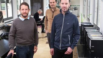 Die Co-Leiter Andreas Renggli (l.) und Jörg Bruppacher (r.) mit Rafael Waber, der ebenfalls mitwirkt.