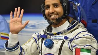 Hassa al-Mansuri ist als erster Astronaut der Vereinigten Arabischen Emirate ins Weltall gestartet.