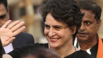Priyanka Gandhi will als neue Vorsitzende der oppositionellen Kongresspartei bei den Parlamentswahlen an die Macht. (Archivbild)