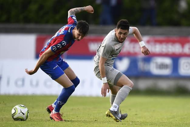 Der FC Aarau führt gegen Chiasso nach 45 Minuten mit 1:0