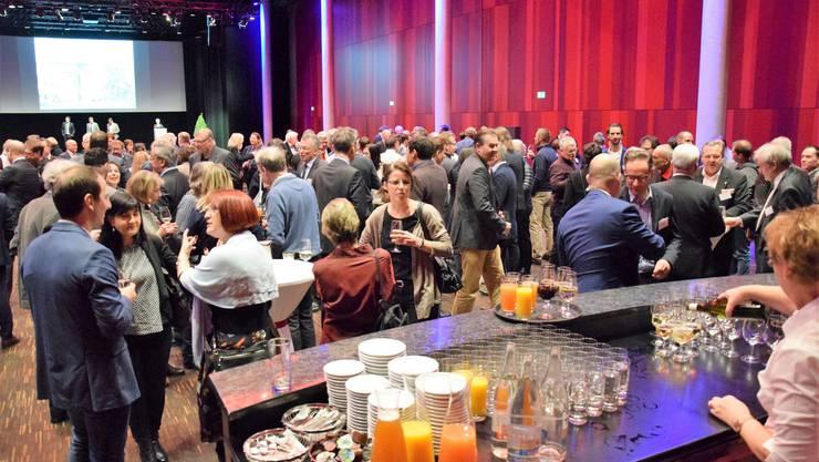 Neujahrsempfang für Unternehmerinnen und Unternehmer der Stadt Brugg und der Gemeinde Windisch im Campussaal