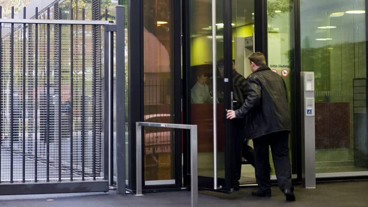 Eingang zum Basler Strafgericht.