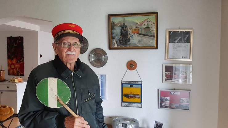 Hans Seiler hat viele Erinnerungsstücke an die WB aufbewahrt.