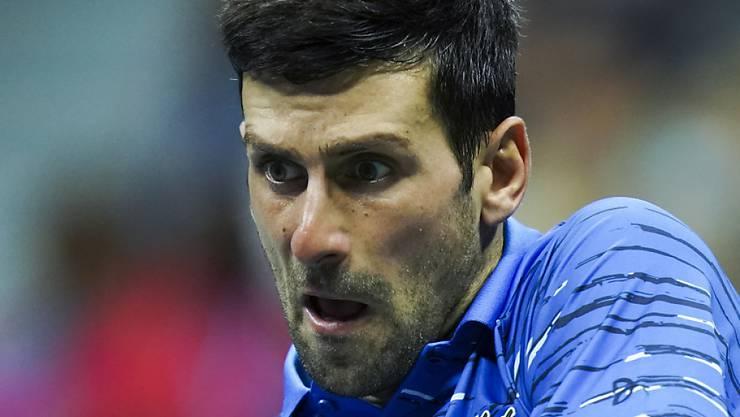 In Tokio nach seiner Schulterverletzung wieder im Einsatz: die Weltnummer 1 Novak Djokovic