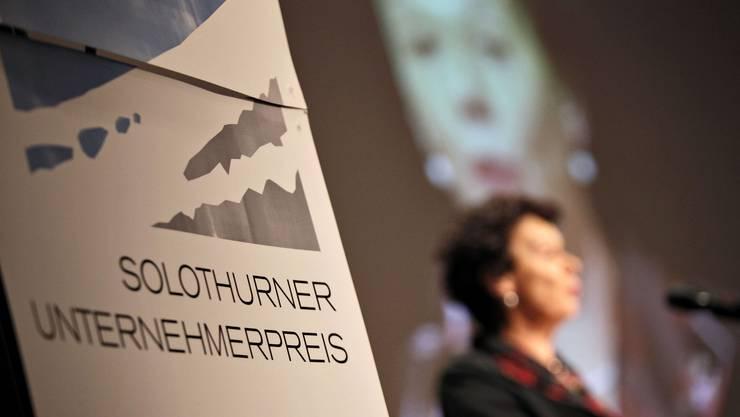Volkswirtschaftsdirektorin Esther Gassler spricht am Solothurner Unternehmerpreis.