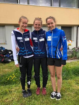 Erfolgreiches Aargauer Trio:Eline Gemperle,Lilly Graber u. Sanna Hotz