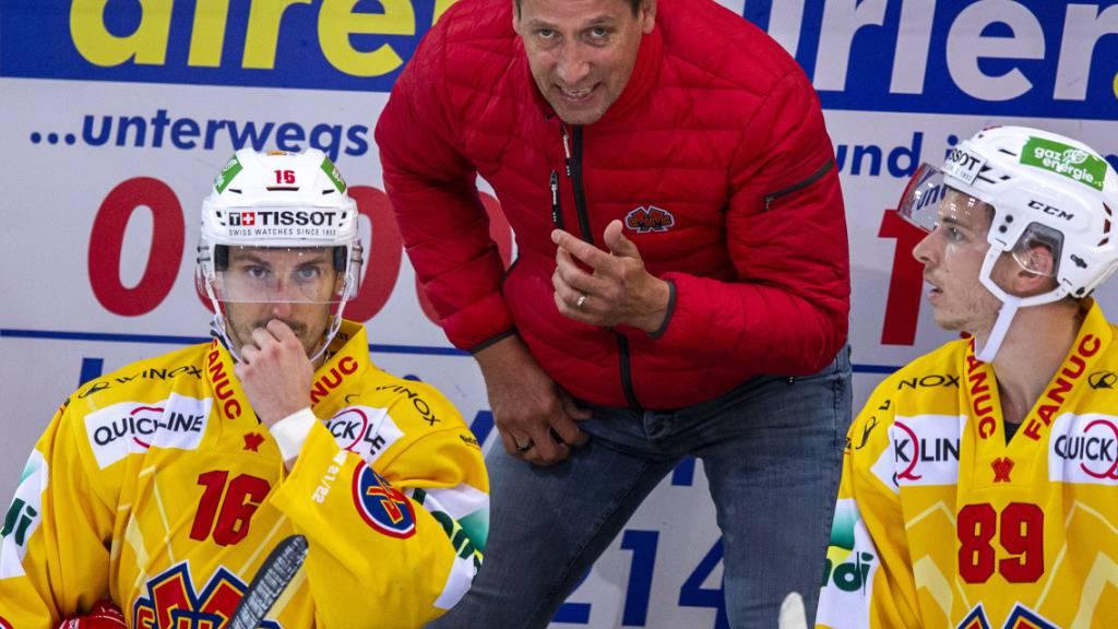Biels Cheftrainer Antti Törmänen wurde es in Rapperswil nicht langweilig