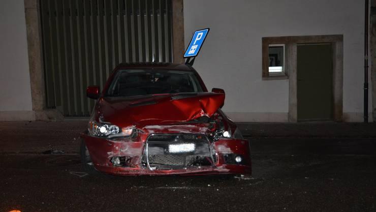 Der Unfall eriegnete sich auf der Delsbergerstrasse in Laufen
