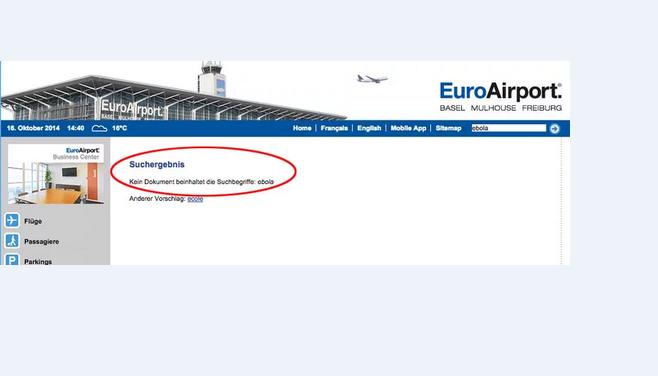 Website EuroAirport in Basel-Mulhouse