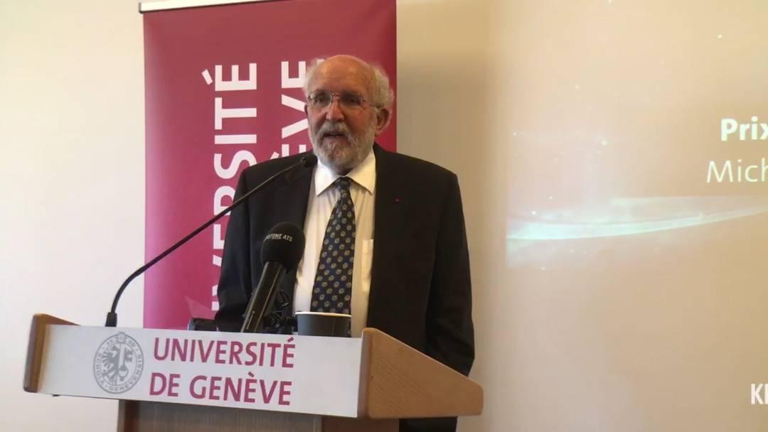 Der Moment, als Michel Mayor vom Nobelpreis erfahren hat