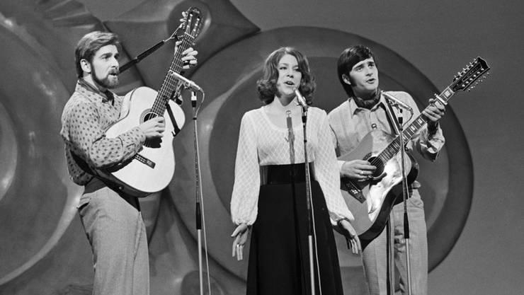 Peter, Sue und Marc 1971 am Grand Prix Eurovision de la Chanson in Dublin.