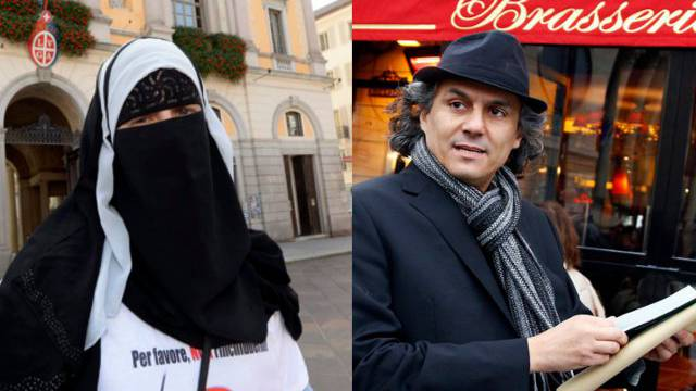 Der Franzose Rachid Nekkaz (rechts) will zahlen, wenn im Tessin Frauen wegen ihrer Burka gebüsst werden.