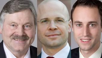 Wurden Opfer einer Werbekampagne: Hans Fehr, Baschi Dürr, Christian Wasserfallen